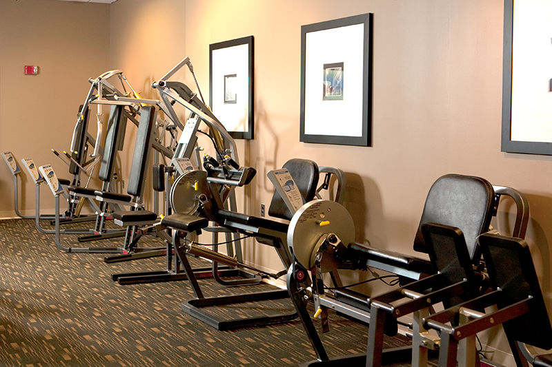 Working out never feels like work in our Vitality Fitness Center.