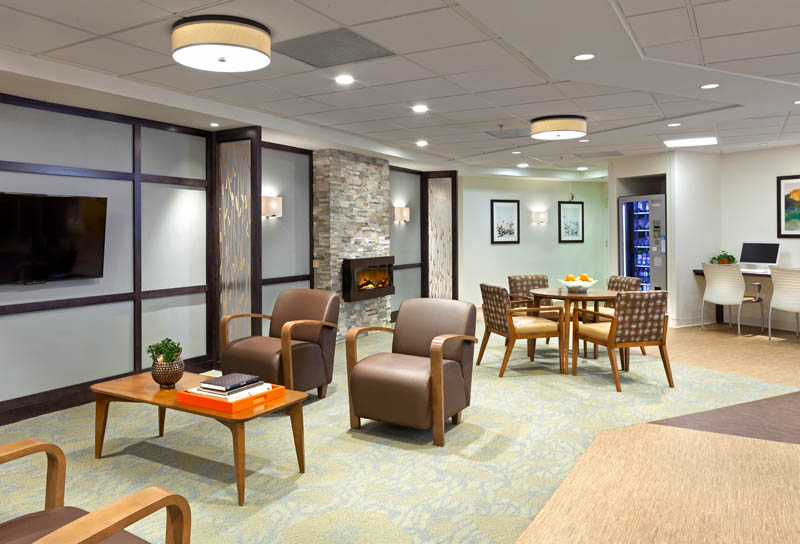 Common areas offer a space to relax and enjoy the company of friends.