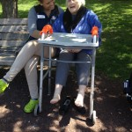 Rita Nolfi was loving the warm weather so much she insisted on taking her shoes off, hey and why not!