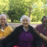 Lydia, Rita and Glayds enjoying some down time after lunch at Fairmount Park.