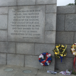 Quote at World War II Memorial.