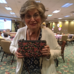 Betty won the beautiful hand bag from Coach! Congrats!!