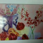 Barry's masterpiece canvas painting titled Fruit & Floral still life.
