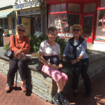 Residents relaxing at Washington Street Mall in Cape May.