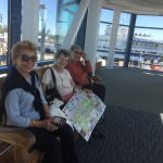 Residents waiting to board on the ferry.