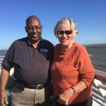 Driver Abe and Verna enjoying the ferry ride.