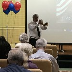 Trumpet performance to honor the veterans.