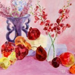 Barry Levin, Pink Passion Still Life Painting
