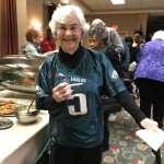 Sheila cheering for the Eagles!