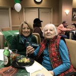 Lois and Carol cheering for the Eagles!