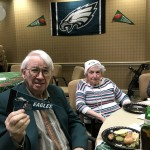 David and Janice cheering for the Eagles!