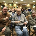 Residents cheering for the eagles!