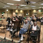 Residents were so excited when Eagles scored!!