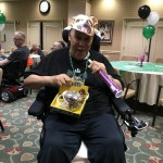 Willie was very happy to receive the prize! Congratulations!