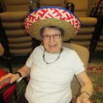 Ms. Kritikos looks spectacular in her sombrero!