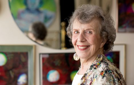 Resident Myrna Bloom-Marcus is Enjoying Creating Beautiful Artwork and Engaging in Fitness Classes at The Watermark