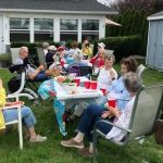 Residents enjoying a delicious barbecue at Jennifer's house in Brigantine.